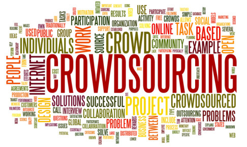 Crowdsourcing concept in word tag cloud